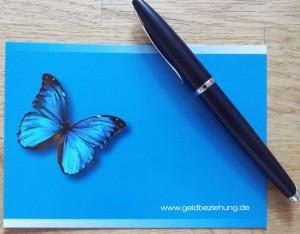 blauer Schmetterling süddeutsche - Geldbeziehung