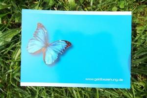 blauer Schmetterling Süddeutsche Karte
